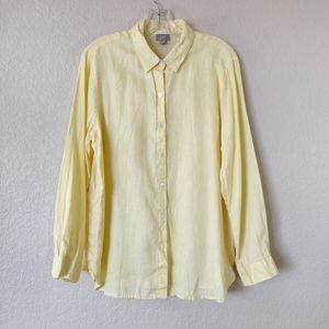 J.Jill Linen Yellow Buttondown Top